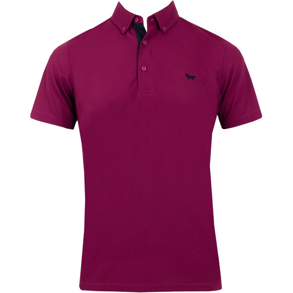 Button Down Peroformance Polo - Mangenta Purple