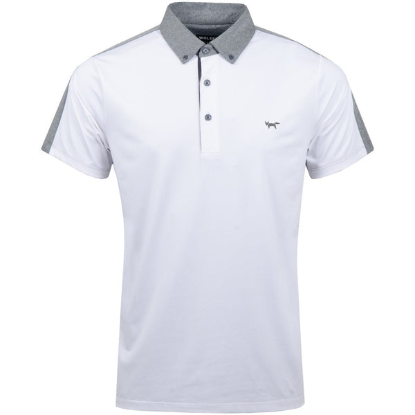 Colour Split Polo - White