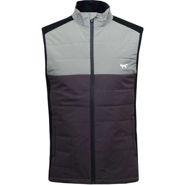 Colourblocked Insulator Gilet - Charcoal