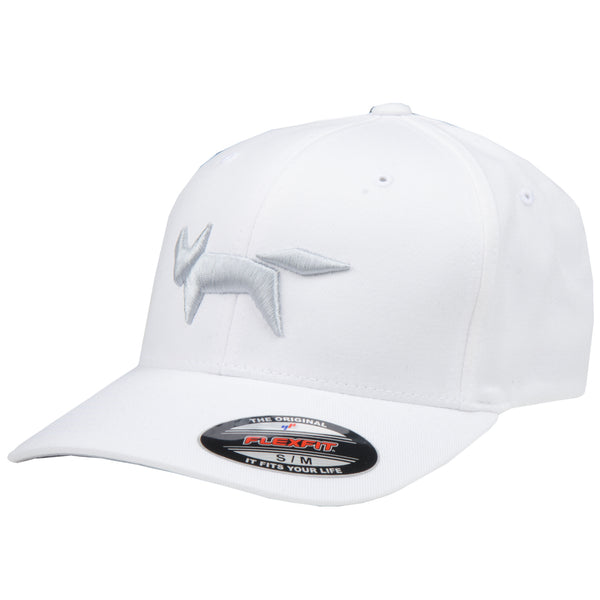 Flex-Fit Fox Logo Cap - White