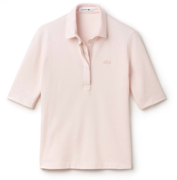 3/4 Sleeve 5 Button Polo - Flamingo