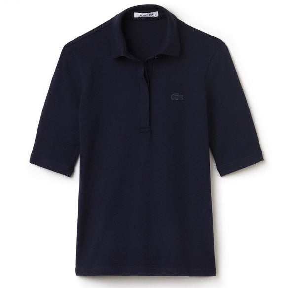 3/4 Sleeve 5 Button Polo - Navy