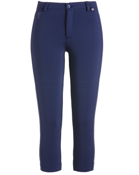 High Performance Stretch Capri - Blue