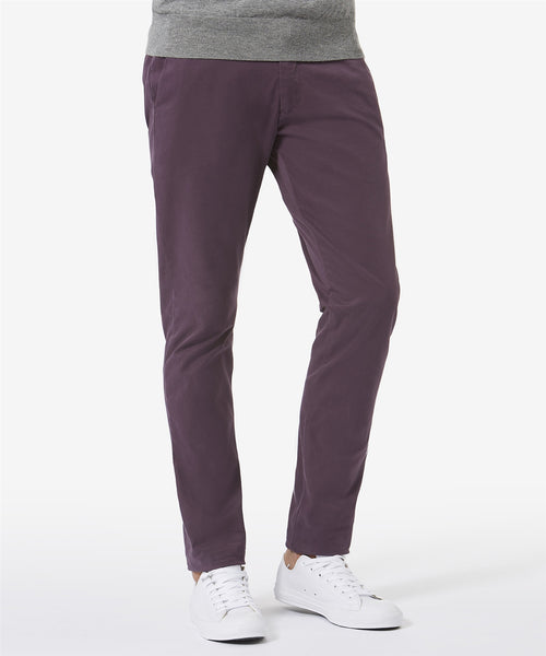 Slim Fit Tailored Cotton Chino - Plum