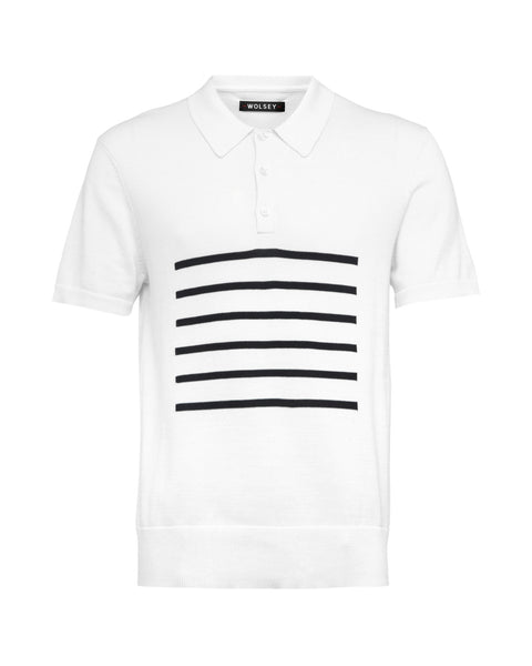 Brenton Knitted Polo - White