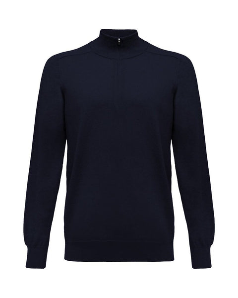1/4 Zip Merino Sweater - Total Eclipse Navy