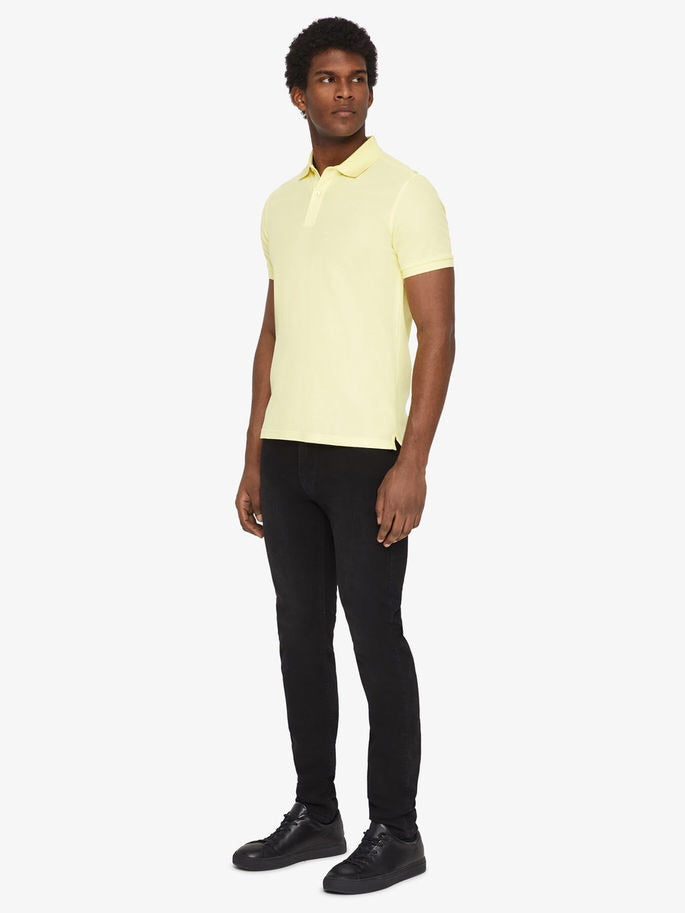 Troy Clean Pique Polo - Still yellow