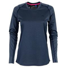 Active Elements Jersey Long-Sleeve Tee - Navy Melange