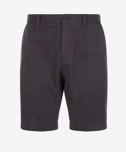 Slim Fit Cotton Chino Short - Charcoal