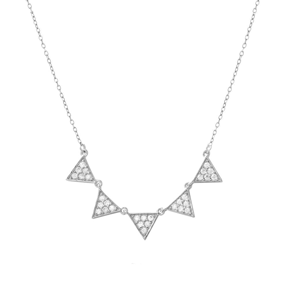 Triangle Row Necklace