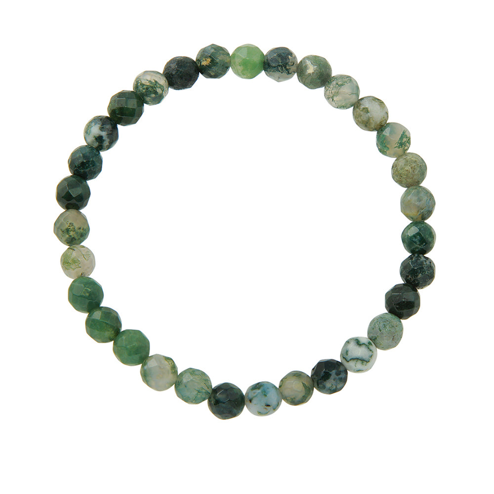 6mm Green Moss Agate
