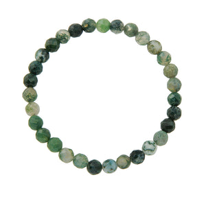 6mm Green Moss Agate (Stone of Prosperity)