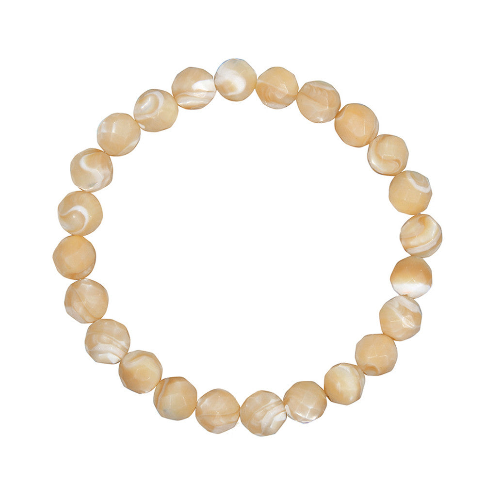 8mm Tan Mother of Pearl (Stone of Harmony)