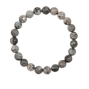 8mm Gray Agate (Stone of Courage)