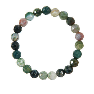 8mm Green Moss Agate (Stone of Prosperity)