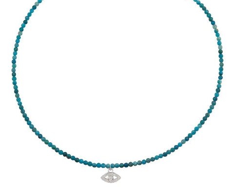 Evil Eye on Apatite Choker