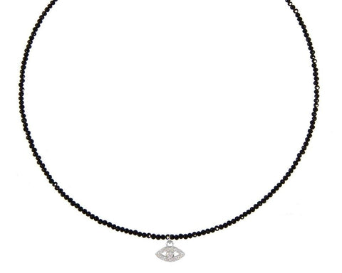 Evil Eye on Black Onyx Choker