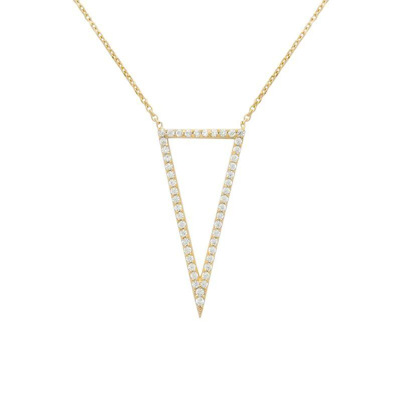 Triangle Cut Out Necklace