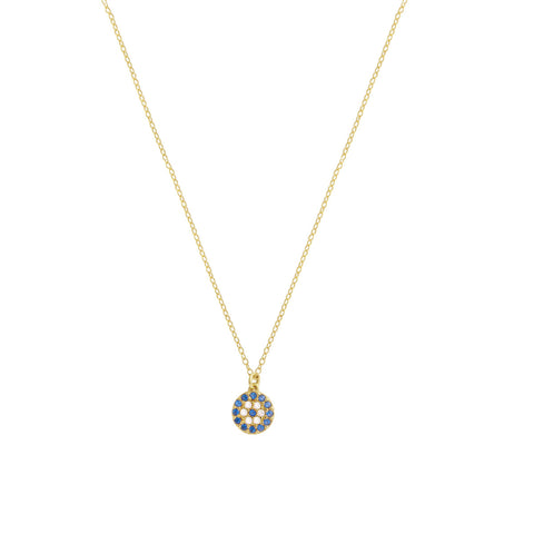 Small Blue Evil Eye Necklace