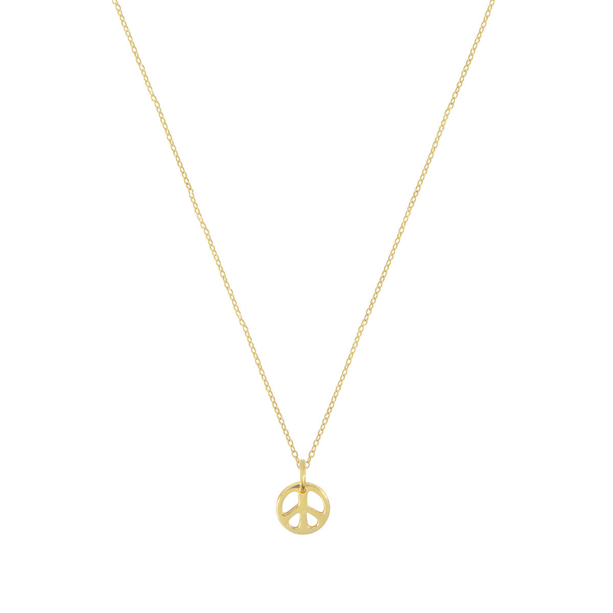 Tiny Peace Sign Necklace