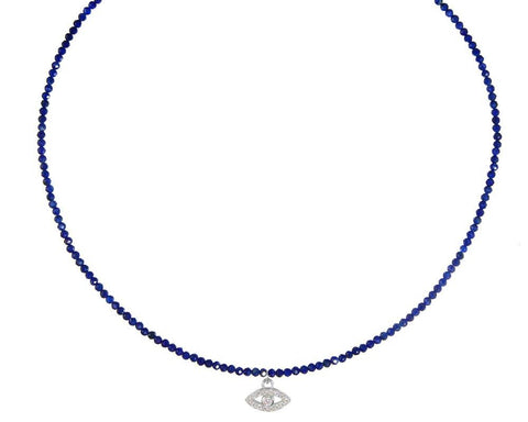 Evil Eye on Lapis Choker