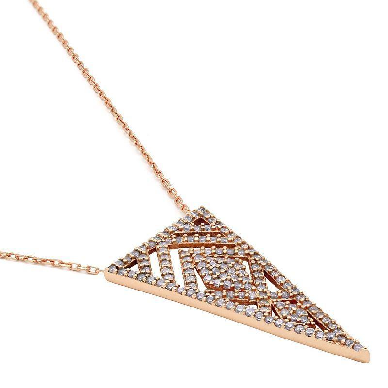 Sterling Silver Filagree Triangle Necklace