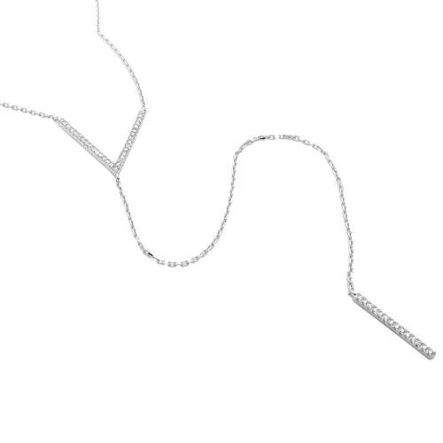 V Lariat Necklace