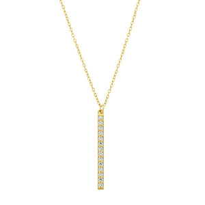 Sterling Silver Vertical Bar Necklace