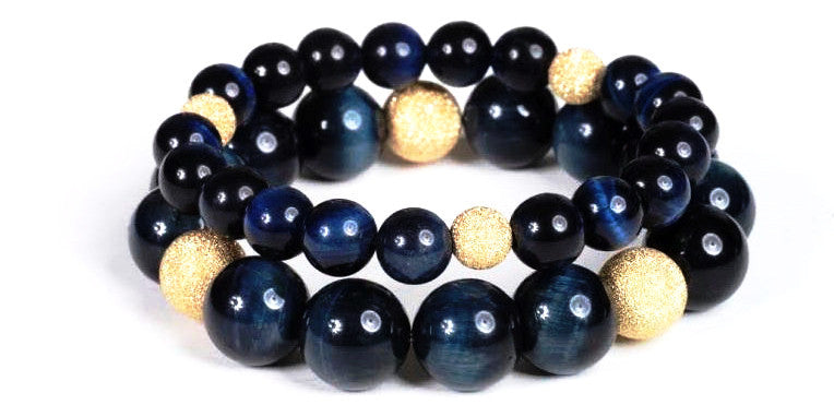 Blue Tigers Eye Bracelets