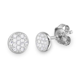 Sterling Silver Small Disc Stud Earrings