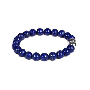 8mm Lapis with Sterling Silver Accent Beads