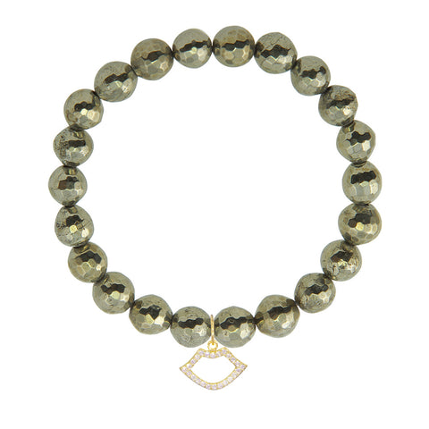 Lips on 8mm Pyrite