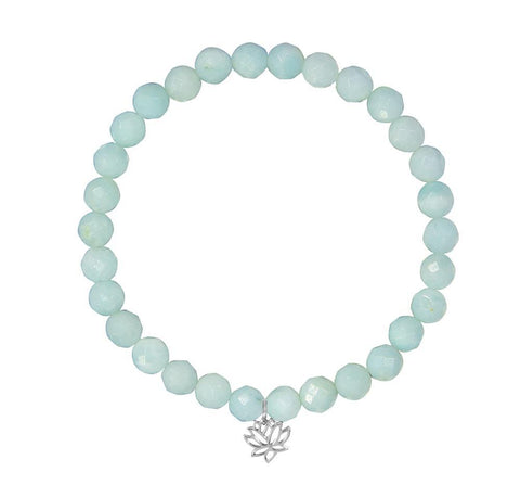 Lotus Flower on 6mm Amazonite