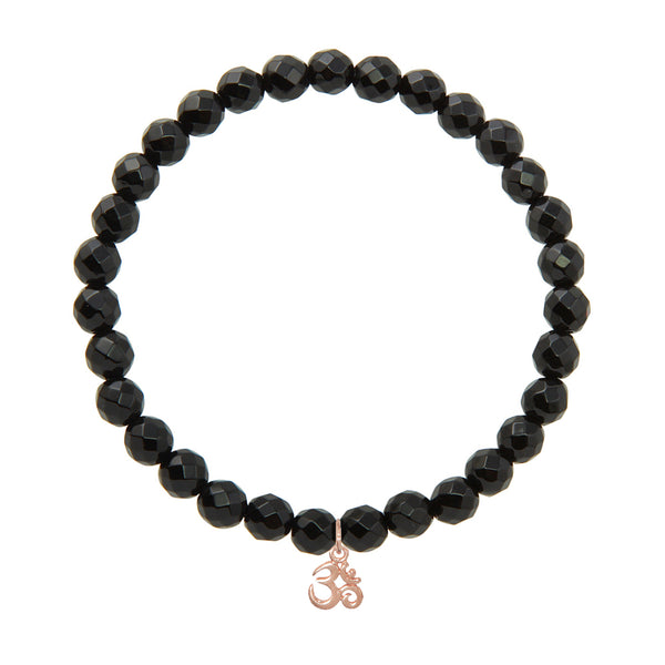 Om on 6mm Black Onyx