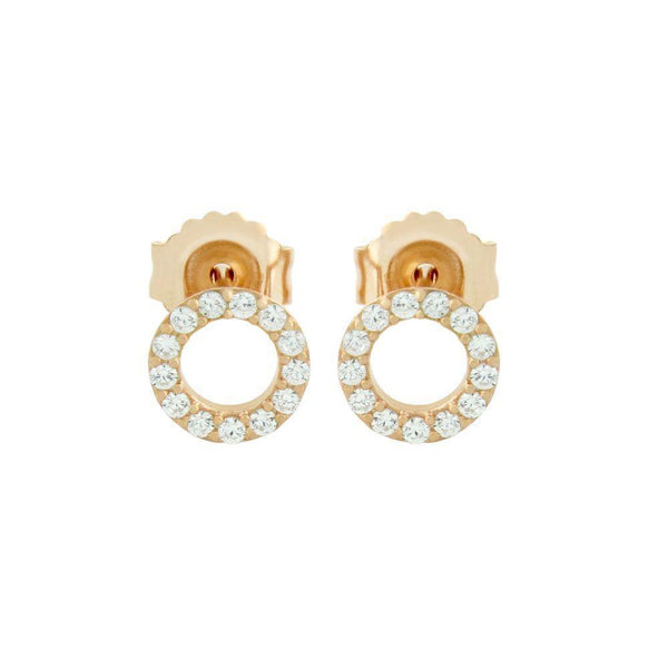 Tiny Circle Cut Out Stud Earrings