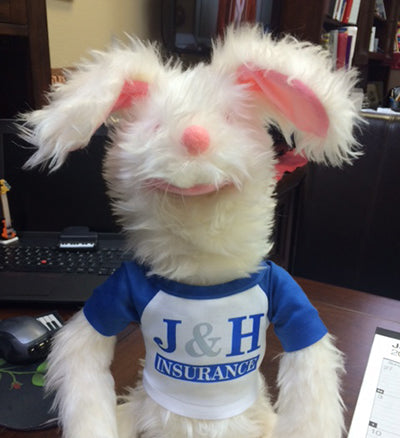 Customer Spotlight: Auto the Bunny gets a new logo T-Shirt!