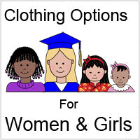 Clothing options for women and girls for cartoon family labels and gifts