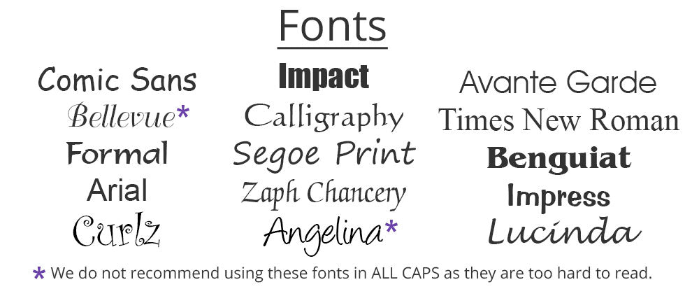 Examples of Fonts
