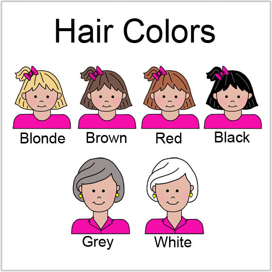Choose hair colors for cartoon boys and men