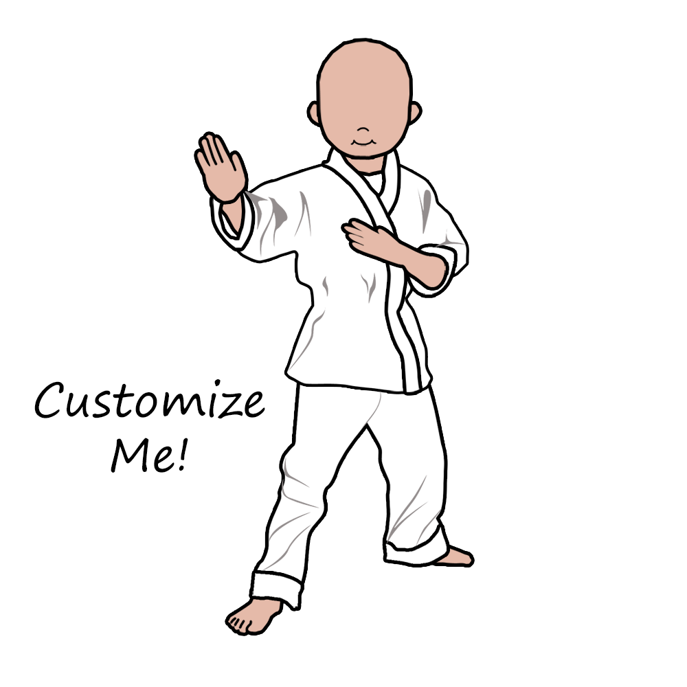 Karate ornament - Choose Options From The Dropdown Menus Beneath The Image And Watch Your Selections Come To Life