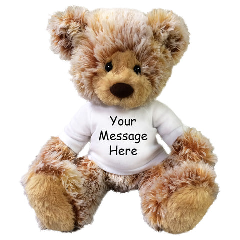 "Personalized Teddy Bear - 16"" Caramel Bear"