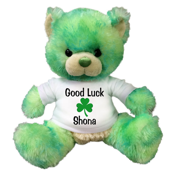 Personalized Good Luck St. Patrick's Day Shamrock Teddy Bear