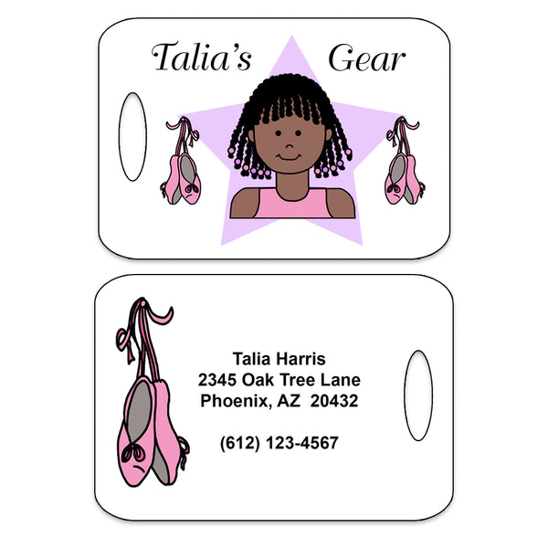 Ballet or Dance Kid Personalized Bag Tag