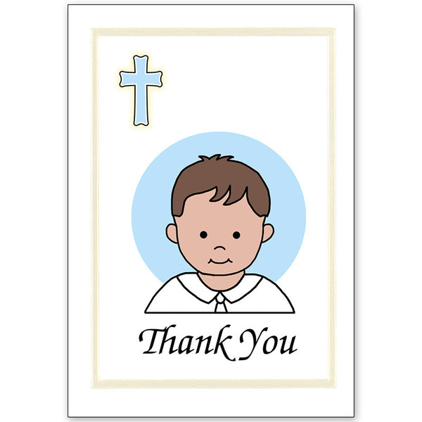 Baptism Thank You Note Cards - Boy