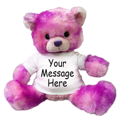 Personalized Purple and Pink Teddy Bear