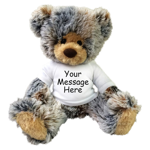 Personalized Teddy Bear - 14 inch Brindle Bear by Aurora Plush