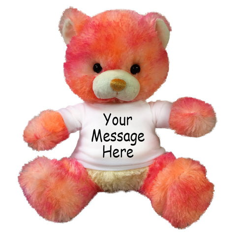Personalized Peach and Pink Teddy Bear