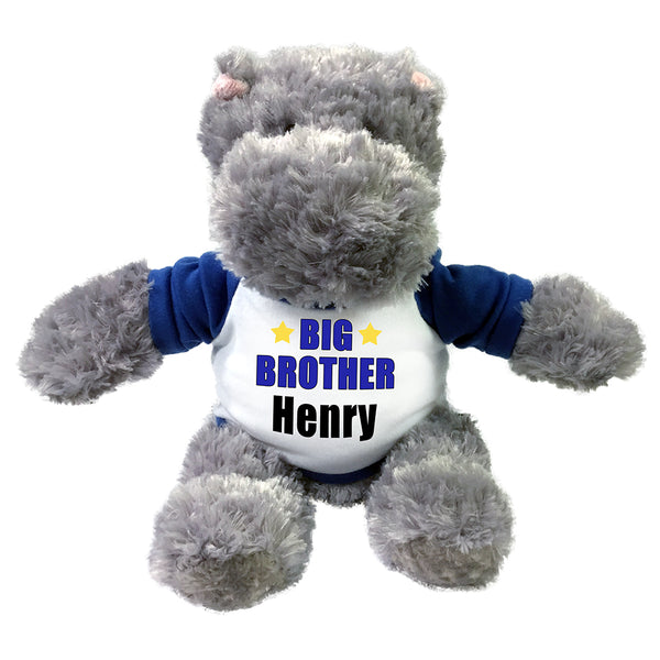 "Big Brother Hippo-  12"" Personalized stuffed Hippopotamus"
