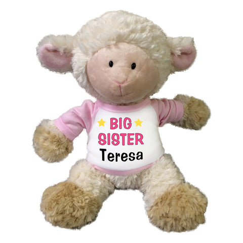"Big Sister Lamb - Personalized 12"" Plush Tubbie Wubbie Lamb"