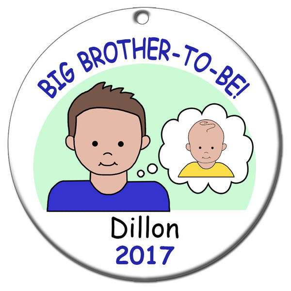 Personalized Big Brother To Be Ornament
